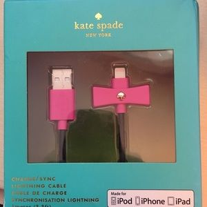 Kate spade charging cable for iphones! New i. Box